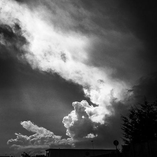 Il bianco-nero porta a completare il quadro con l'immaginazione. #tought Sky Nature Outdoors Blackandwhite