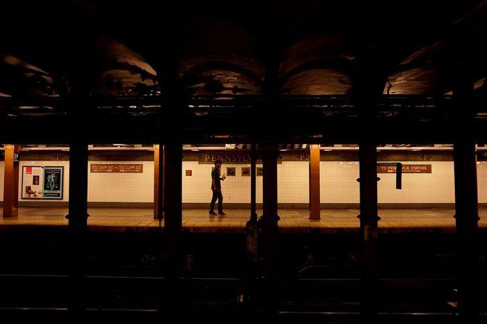New york penn Citylights City Life City Night Streetphotography Subway Station Pennstation