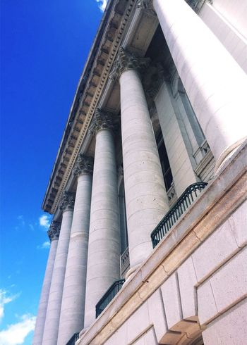Low Angle View Architecture Architectural Column Capitol Building IPhoneography