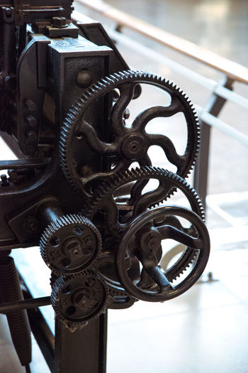 At the Toyota Museum in Nagoya, Japan Antique Close-up Cropped Detail Focus On Foreground Loom Machine Part Machinery Manufacturing Metal Metallic Part Of Textile Industry Textile Machinery Weaving Loom Weaving Machine Ultimate Japan