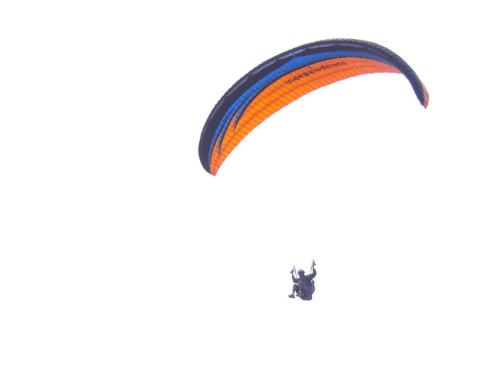 Adventure Clear Sky Empty Space Flying Lifestyles Mid-air One Person Parachute Paragliding Real People Skydiving Sport Live For The Story