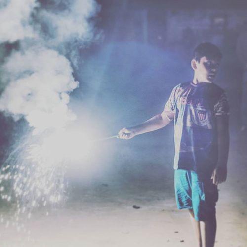 Fireworks Diwali Festival India Village Crackers Portrait Light