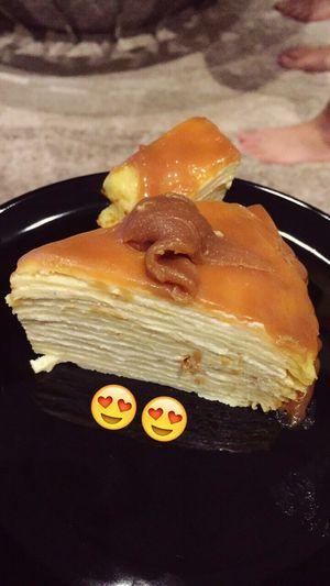 Mille crepe cake i baked / cooked 😋😋 Crepe Cake Millecrepe Foodporn Yummylicious Yuminthetum Jack&food Jack&kitchen
