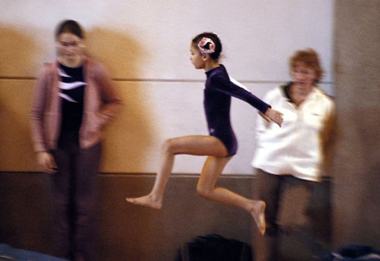 Championship Of Gymnastics Childhood Competition Contest Group Of People Indoors  Jump Jumping Learning To Fly People Sport Walking On The Air