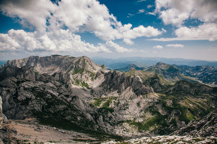 Mountain Durmitor, Montenegro Beauty In Nature Cloud - Sky EyeEm Best Shots EyeEm Gallery EyeEm Nature Lover Geology Landscape Mountain Mountain Range Mountains Nature Outdoors Rock Formation Sky Tranquility Travel Destinations