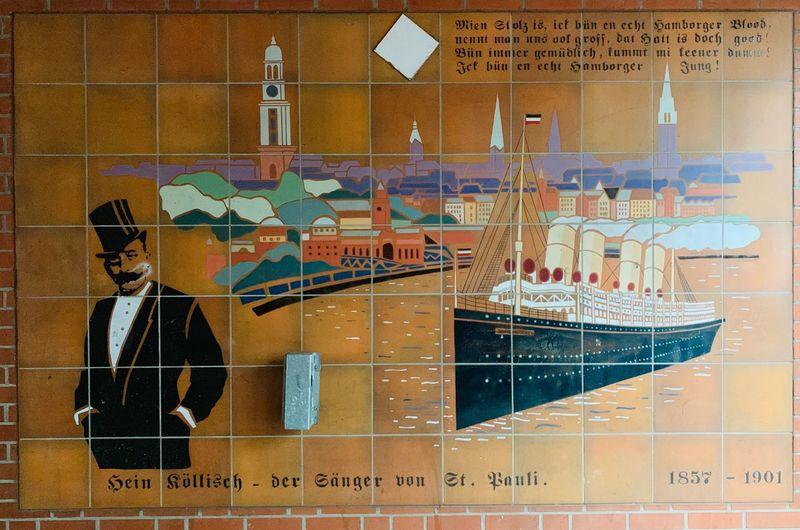 Hein Köllisch 1857-1901 Hamburger Jung Architecture Communication Built Structure No People Wall - Building Feature Map Creativity Mural Art And Craft Text Data Wall