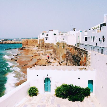 Spent a relaxing day in the Moroccan fortified town of Assilah. With its whitewashed architecture and its seaside location, it's reminiscent of Santorini. Hello World Morocco Africa Sunny Day Enjoying Life Relaxing Muslim
