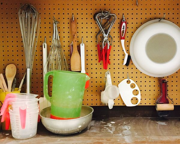 EyeEmNewHere Ceramics lab supplies. Indoors  Bowl Watering Can Wooden Spoon No People Day Close-up Freshness Ceramics Art Classroom Tools Of The Trade Artist Working With Hands Clay Work Wisk Measuring Cup Laboratory Art Is Fun!