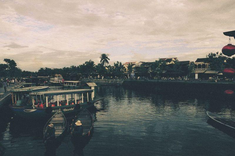 Thu Bon river. Hoi An street. Vietnam.