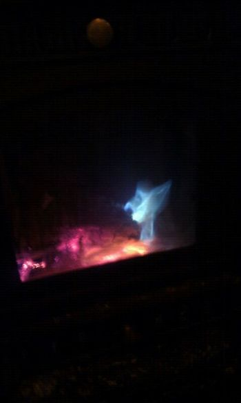 A home-made 'magic' log in the wood burner and this bright blue goblin head appears!! Science And Art Beauty Of Fire Fantasy In Fire