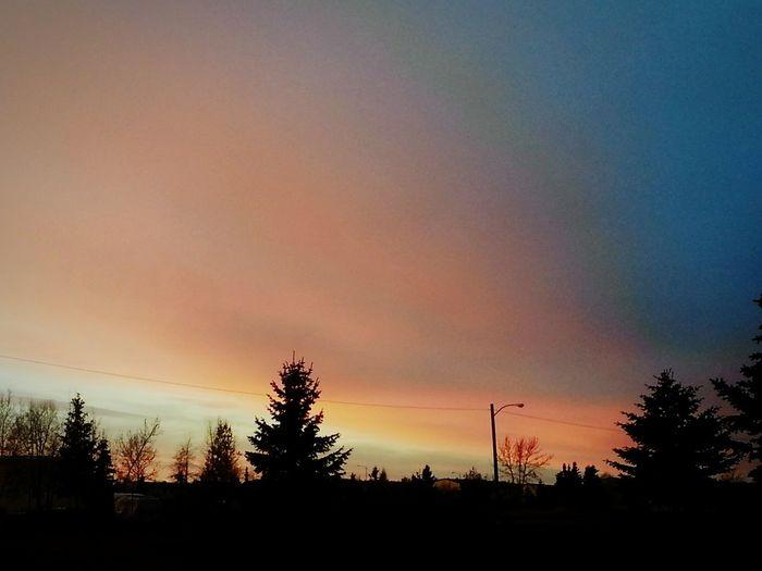 Quite Evening Sunset . Alaska Sunset