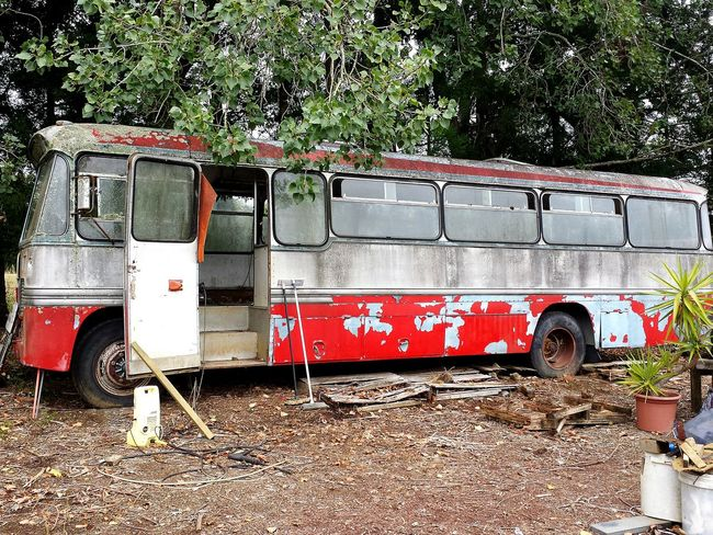 Mode Of Transport Transportation Land Vehicle No People DIY Bus Camper House On Wheels Do It Up Do It Yourself Travel Potential  Rust Bucket School Bus