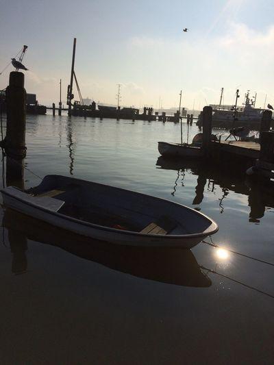 Marítim Harbour Lübeck-Travemünde 2016 Winter Sky Winter Water Reflections Winter Sun Wintertime Boats Harbour View 2016