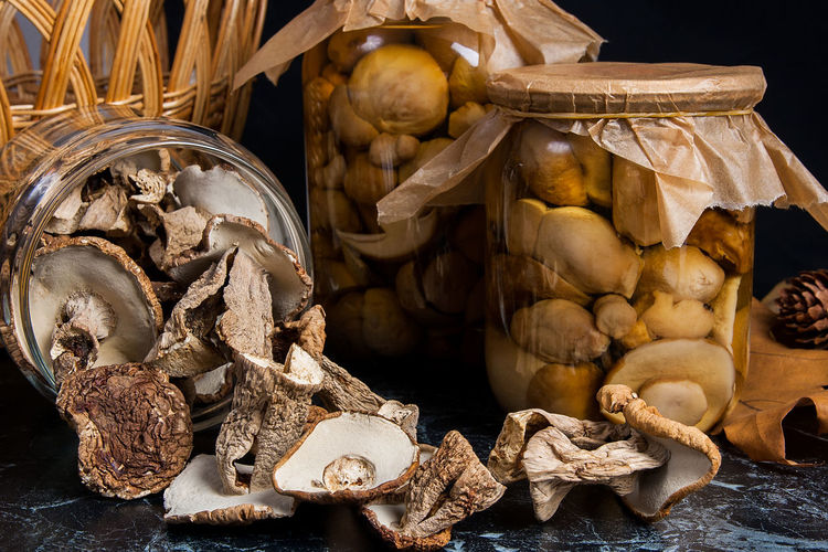 Choice Close-up Container Edible Mushroom Food Food And Drink Freshness Fungus High Angle View Indoors  Ingredient Large Group Of Objects Market Mushroom Nature No People Raw Food Spice Still Life Vegetable