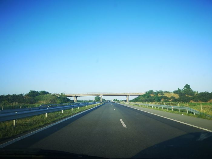 Hit the road again Bulgaria Ontheroad Ontheroadagain Traveling Europe Trip Eastern Europe Bulgaria Bułgaria Explore Stockphoto Huaweip20pro City Clear Sky Cityscape Road Bridge - Man Made Structure Blue Tree Politics And Government Sky Architecture Covered Bridge Straight Overpass Highway Two Lane Highway vanishing point Diminishing Perspective Empty Road Car Point Of View Multiple Lane Highway