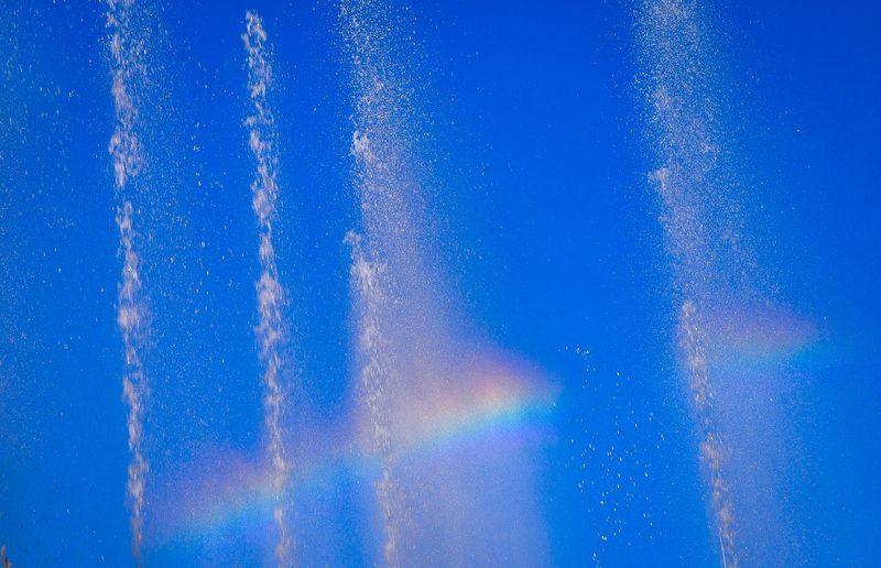 Rainbow Rainbow Sky Rainbow Colors Waterdrops Blue Sky Colourfulsky At Mexico Travel Photography
