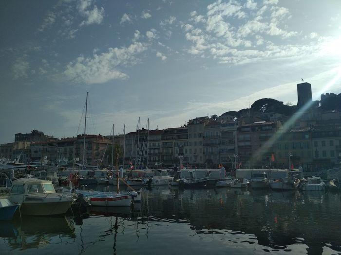 Cannes Cannes Provence Alpes Cote D´Azur Port Sky Ciel Costa Azzurra France🇫🇷 Moncadeaudanniversaire Jaimebien Vacanza Springtime Printemps Jadore  Nautical Vessel Politics And Government Sailboat Reflection Architecture Building Exterior