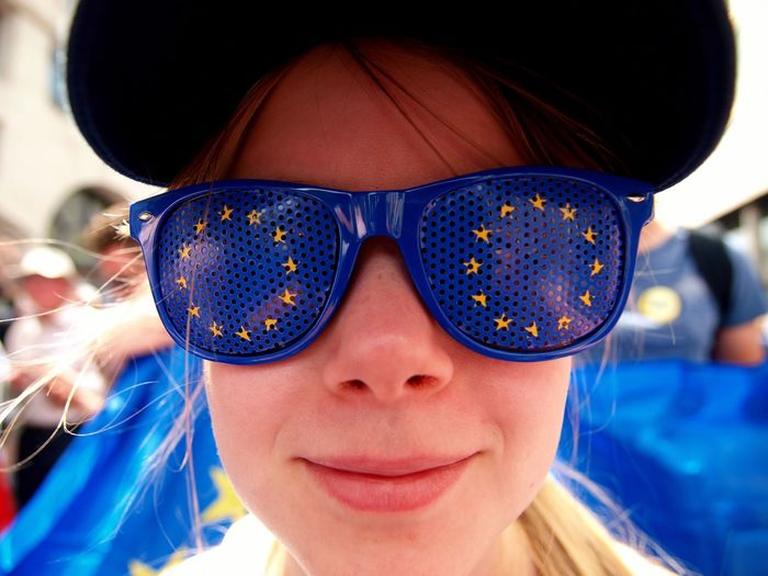 March For The Peoples vote. Whitehall. London. 23/06/2018 Stevesevilempire Steve Merrick Protest Protesters Whitehall London London News Europe Remainers Remain Brexit British Politics Politics And Government Brexit Protest Stevesevilempire Steve Merrick Headshot Portrait One Person Adult Women Front View Fashion