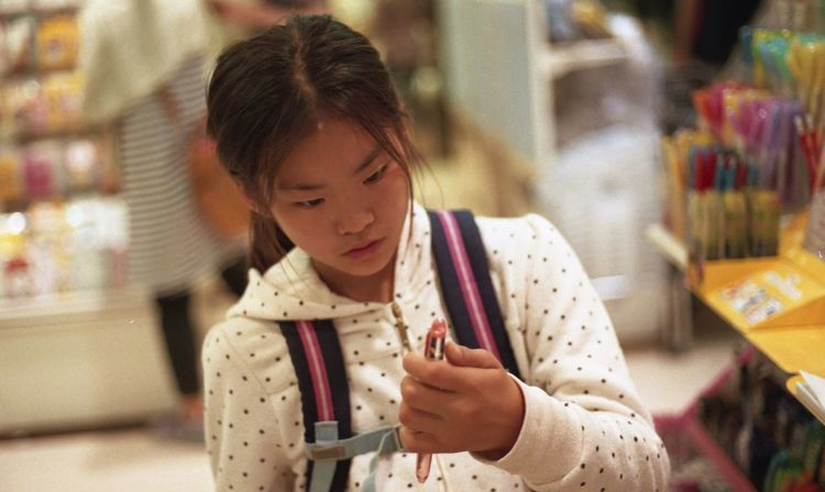 My Daughter Shopping Stationary Eos1v EyeEm EyeEm Best Shots Film Camera My daughter love stationaries. I took this pic by CANON EOS 1VHS film camera.