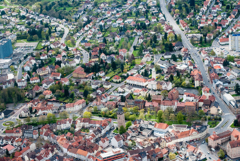 Aerial View Architecture Built Structure City Cityscape Day Elevated View Eschwege High Angle View Landscape Town TOWNSCAPE