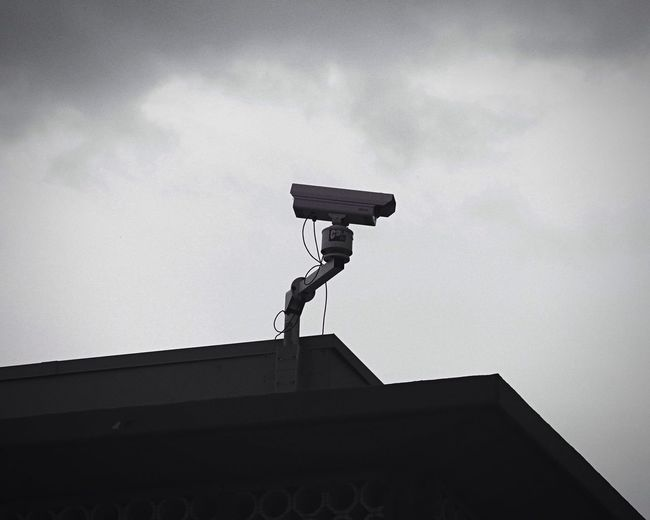 Cropped Big Brother Security Surveillance Blackandwhite Ominous