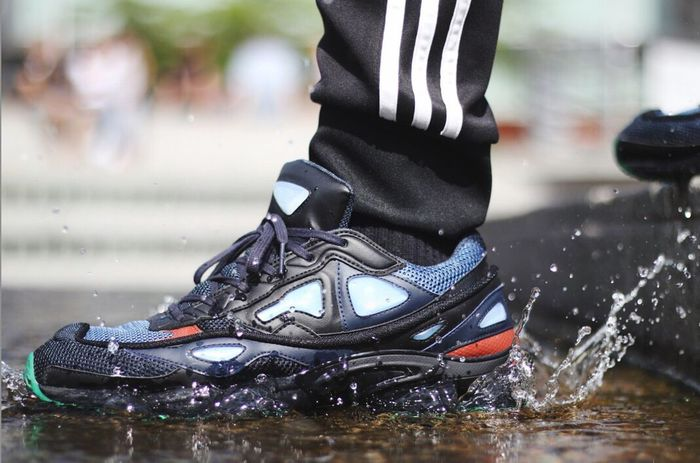 Sneakers RafSimons Water Splashing Lifestyles Hypebeast  Fashion Fashion Photography Onfeet