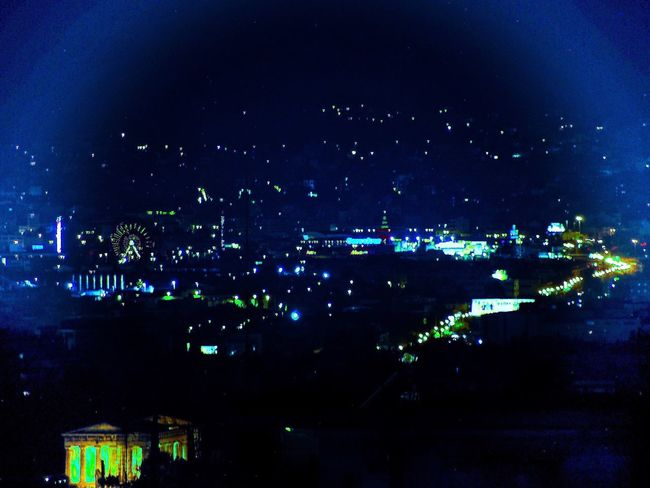 Athens, Greece City Lights At Night Fromhotelroom Greece HotelGrandeBretagne Night Night Lights Nightphotography No People Nofilter OLYMPUS PEN E-P3 Photoshop Edit