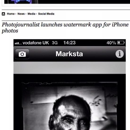 Great watermark app for the iPhone called Marksta that allows you to add a name, ©, etc, to your Instagram pictures which could come in handy after the new ToS goes into affect in a couple of weeks. Might not totally deter theft of your images but might g