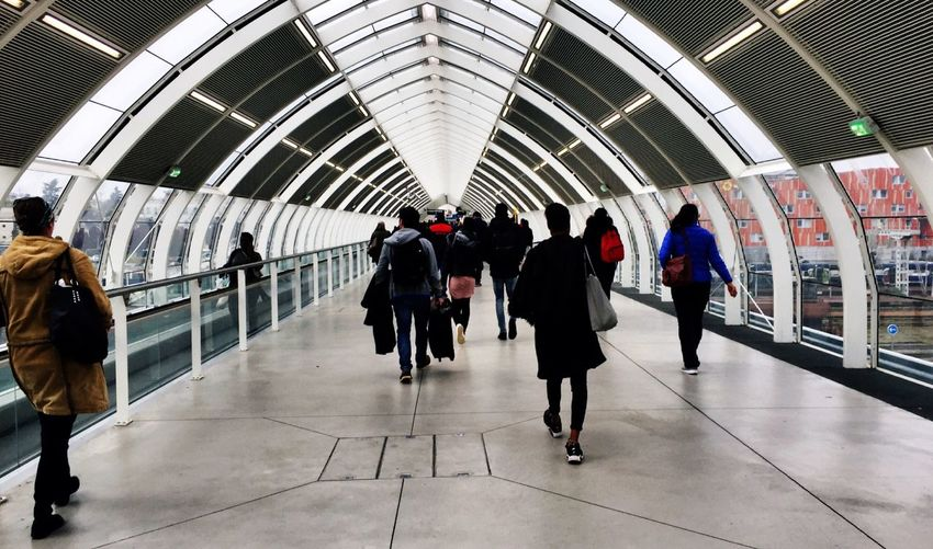 Large Group Of People Commuter Blurred Motion Walking Subway Station Rush Hour Transportation Modern Travel Architecture First Eyeem Photo Hello World Followme Outdoors City Life Motion Arrival Built Structure Urgency Indoors  People Adults Only Crowd Futuristic