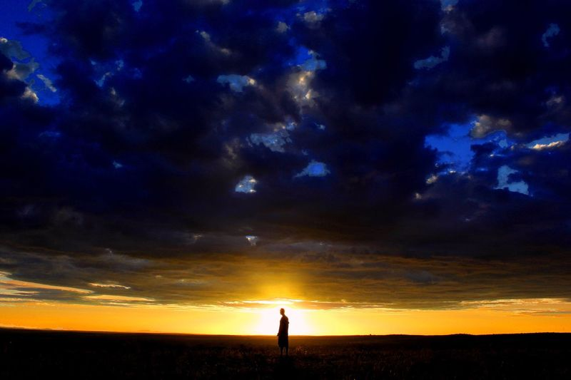 Long Goodbye Letting Go Sundown Dreaming Thoughts Into The Light Dawn Silhouette Nature Sunset Sky Scenics Beauty In Nature Outdoors Tranquil Scene Landscape