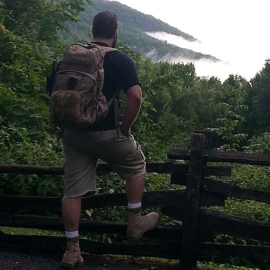 Testing out the new bug out bag. Tennessee Prepping Hiking The Great Smokey Mountains Nature