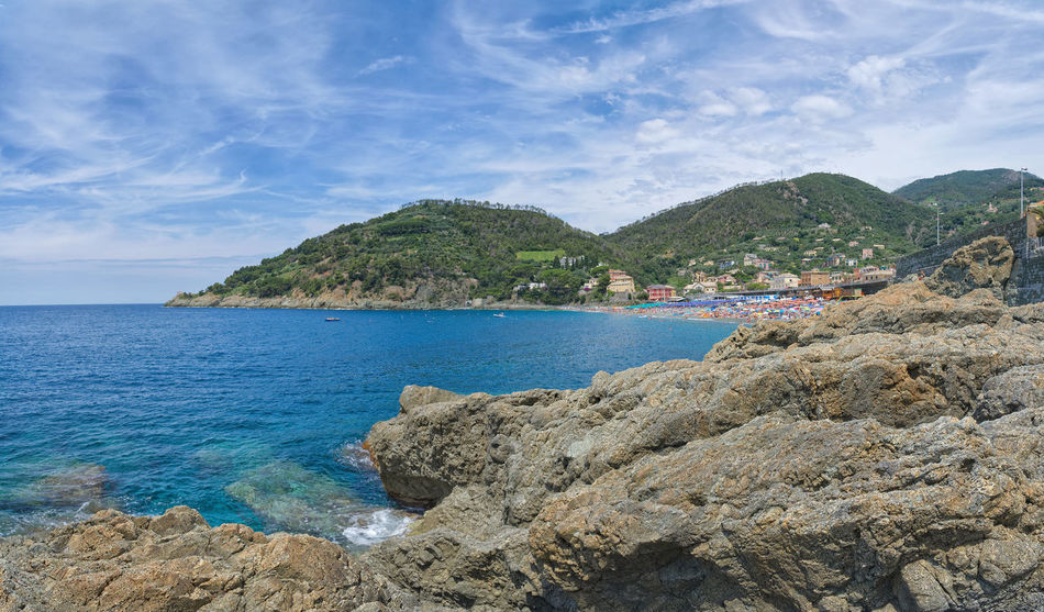 Bonassola beach and coast - Ligurian sea Bonassola Bay Beach Beauty In Nature Cloud - Sky Day Idyllic Land Liguria Mountain Nature No People Non-urban Scene Outdoors Rock Rock - Object Rocky Coastline Scenics - Nature Sea Shoreline Sky Solid Tranquil Scene Tranquility Water
