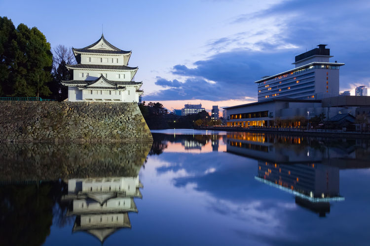 Nagoya castle and Nagoya castle hotel Architecture Castle City Cityscape Culture Famous Place Naoya Castle Sky Travel Water