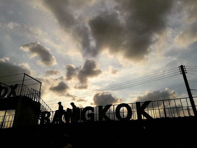 Enjoy The New Normal Cloud - Sky Sky Silhouette No People Low Angle View Sunset Sunbeam Outdoors Day Artboxbangkok Night Nightmarket