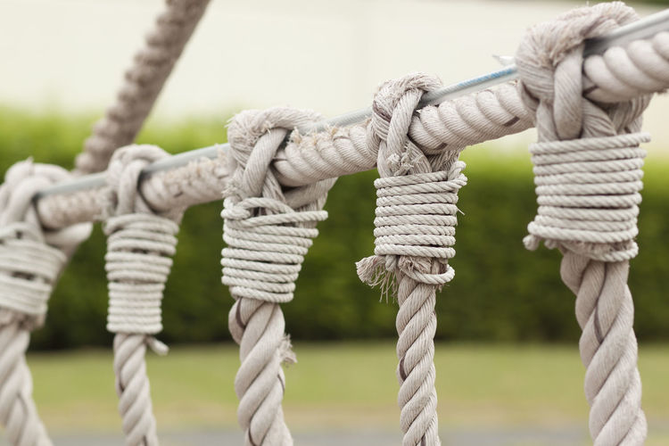 Bridge Ropes Connection LINE Rope Tied Tied Knot Tied Up