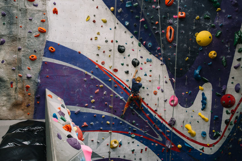 Indoor Rock Climbing Adventure Balance Challenge Climbing Climbing Wall Determination Determination! Exercising Extreme Sports Gym Health Club Healthy Lifestyle Indoor Rock Climbing Indoors  Lifestyle Practicing Rock Climbing Sport Strength