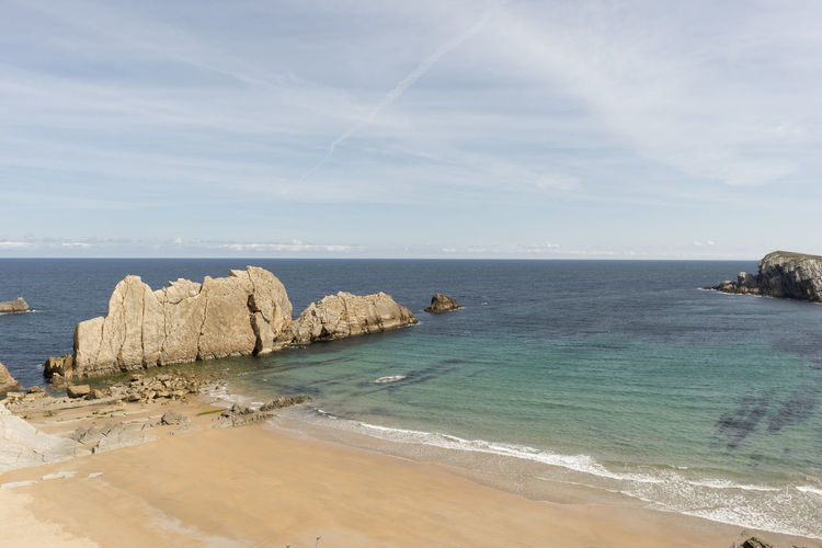 Arnia Arniabeach Beach Beauty In Nature Cantabria Coast Day Horizon Over Water Idyllic Landscape Nature Nature No People Outdoors Rock - Object Scenics Sea Sky SPAIN Tranquil Scene Tranquility Water