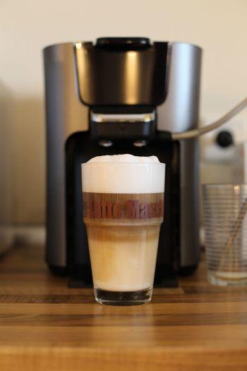 My first selfmade Latte Macchiato Latte Macchiato Coffee Senseo