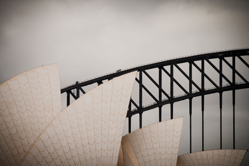 Sydney Opera House and Sydney Harbour Bridge in the background. Architecture Architecture Photography Australia Iconic Buildings Sydney Harbour Bridge Sydney Opera House Sydney, Australia The Architect - 2017 EyeEm Awards
