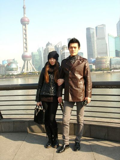 Hi! That's Me Hanging Out Casual Look With Friend Shanghai Walking Around The City