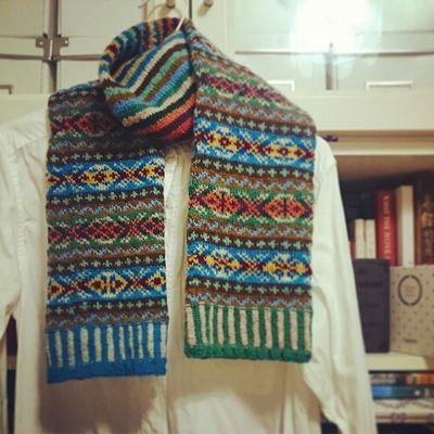 ???FINISHED??? My first colorful fairisle scarf? total 16 colors!!! Fairislefriday Fairisleknitting Knitting Instaknit knittingroom kazekobo 棒針 編織 編織實驗室