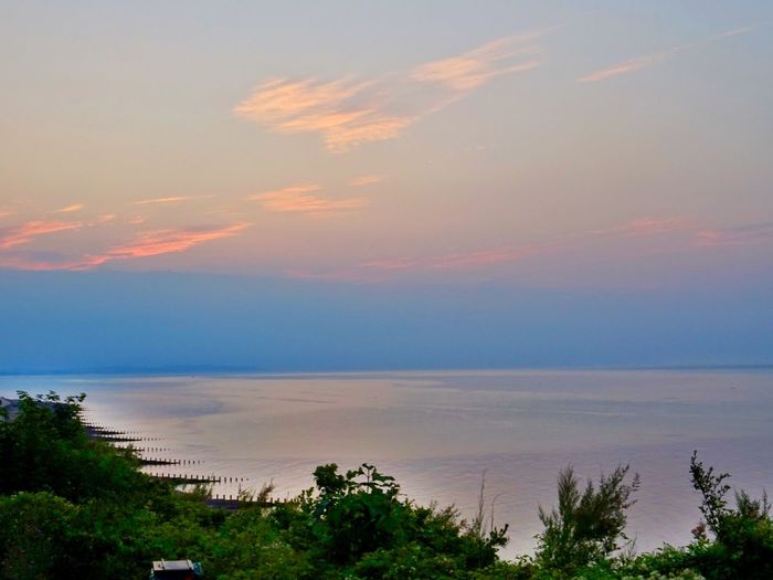 Early morning and a beautiful sky Sunrise Sky Beauty In Nature Sea Scenics - Nature Water Cloud - Sky Tranquility Tranquil Scene Horizon Over Water Idyllic Landscape No People