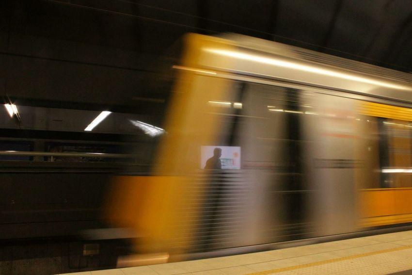 Train Focus Subway Underground Speed Yellow Taking Photos Followme