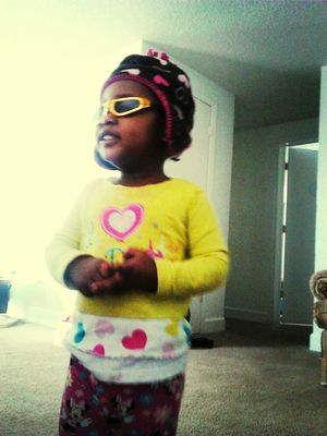 Lil Cuzzo gone be a model she said :)