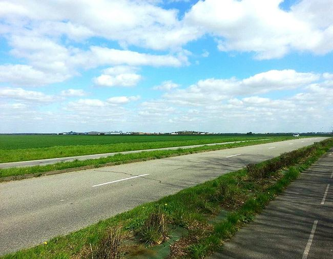 Just Around The Corner Fields On The Road Landscape Landscape_photography Clouds And Sky Galaxynote2