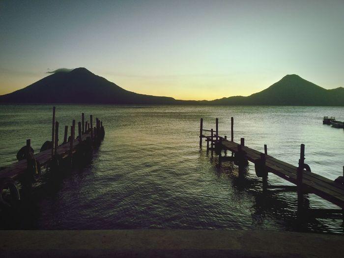 At The Lake Lake Atitlán Panajachel  Guatemala Sunset