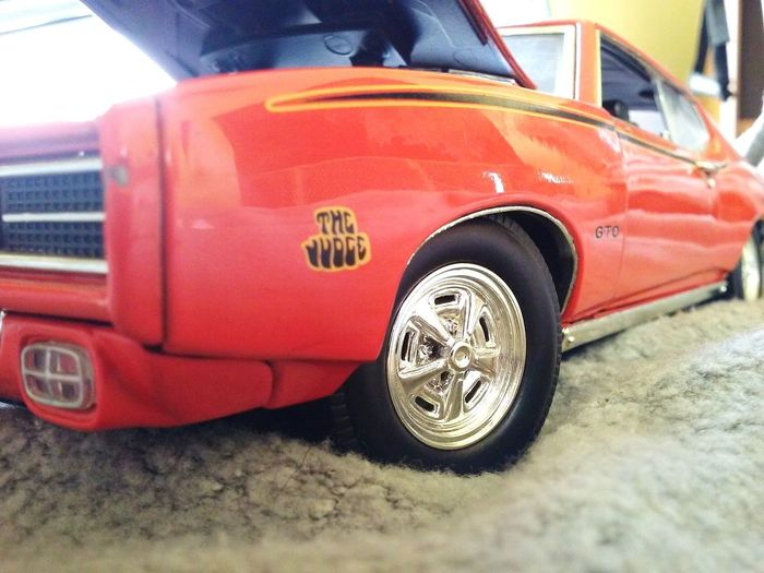Car Transportation Land Vehicle Old-fashioned Close-up Outdoors No People Day Tire Orange GTO The Judge