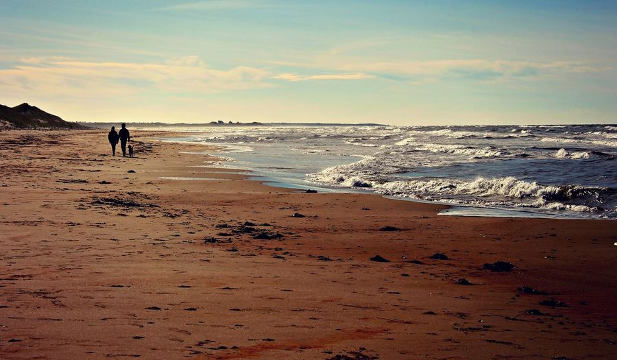 Beach Beauty In Nature Canada Lifestyles Nature Pei Prince Edward Island Sand Scenics Sea Shore Sky Tranquility Vacations Walking Water Wave
