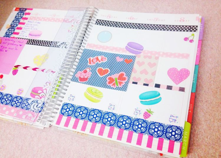 Planner Erin Condren Planners & Coffee Weekly Spread