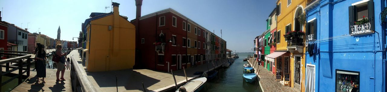 Burano Large View  Outdoors Architecture No People Travel Destination Colors Venezia Venice Italia Italy Canal Water Clear Sky Light And Shadows Tranquil Scene Beautiful Place Bella Italia Beauty Of Italy The City Light Neighborhood Map Live For The Story Adventures In The City